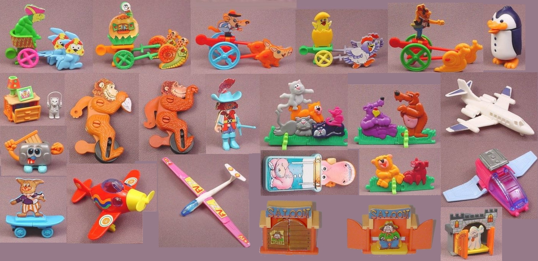 Старые игрушки из киндер-сюрприза